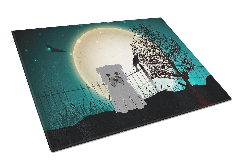 Multicolor Large Carolines Treasures BB2249LCB Halloween Scary Glen of Imal Grey Glass Cutting Board