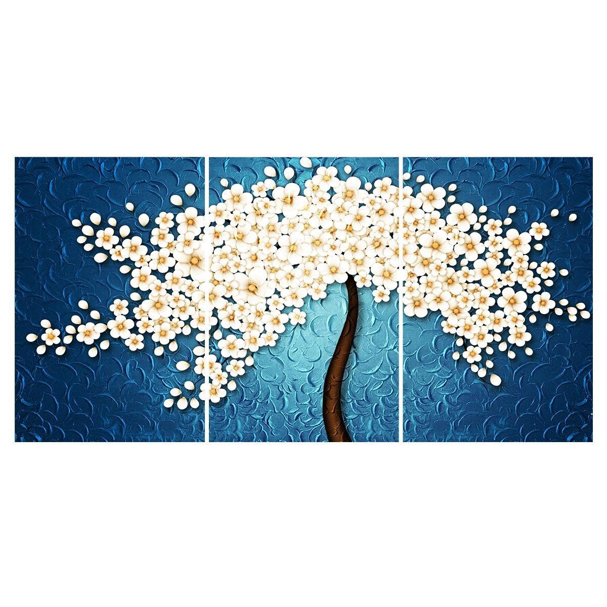 【開運 植物】壁飾り 絵画 花 アートパネル 桜の木 ファブリックパネル 絵画 桜花 モダン絵画 インテリア 絵画 壁キャンバス絵画 壁アート 木枠セット 40*60*3枚パネルセット B01MUG22RU