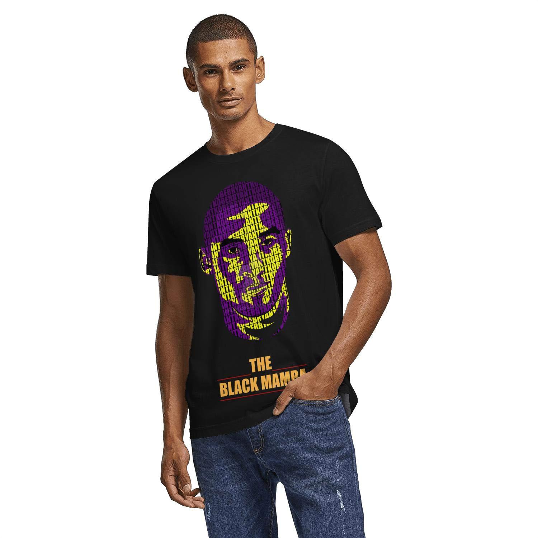Mens Fashion Black Mamba Retire Memorial Black Short Sleeved Print T-Shirt Plus Size Sport Tee Shirt