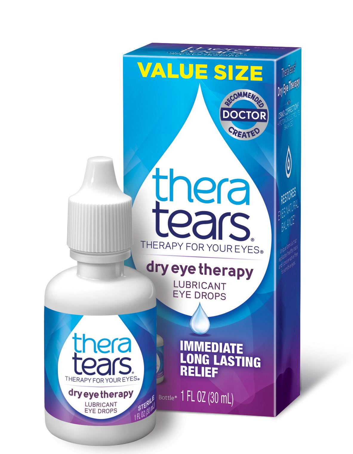 TheraTears Dry Eye Therapy- Lubricant Eye Drops- 1FL OZ(30mL)