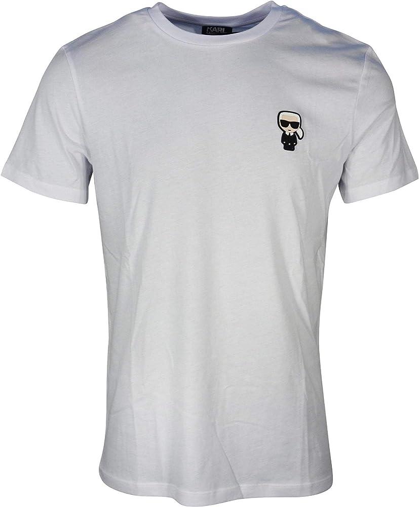 Karl Lagerfeld - Camiseta de algodón con Logotipo de la muñeca Blanco Blanco L: Amazon.es: Ropa y accesorios