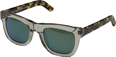 95aa4b135a8d Super Unisex Ciccio Sportivo Clear/Tortoise/Green Sunglasses: Amazon.ca:  generic