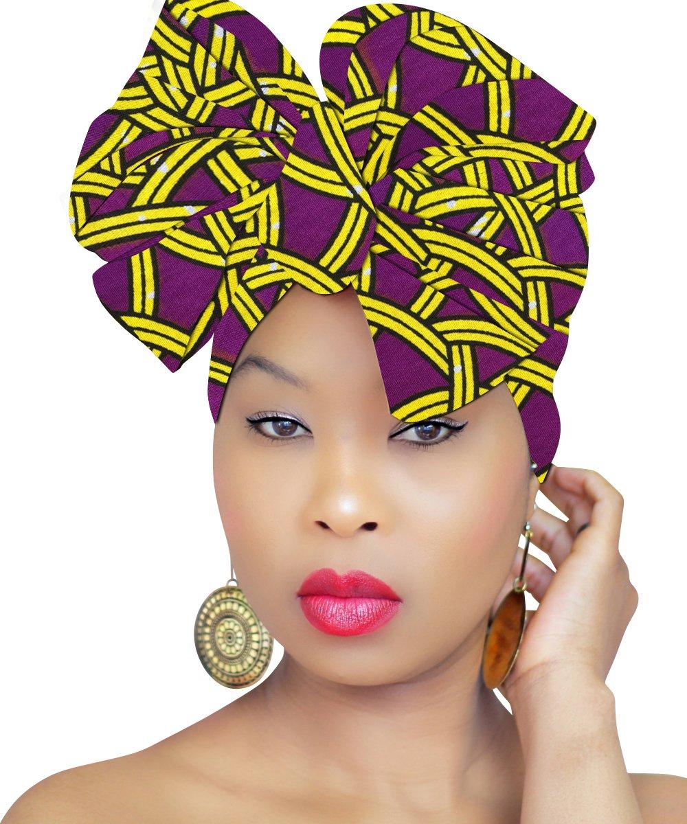 Head Wrap | AFRICAN HEAD WRAP | Hijab | PREMIUM QUALITY HEAD WRAP African Head Wraps Hair Loss African Fabric Turban Headband Muslim Head Cover Under Scarf