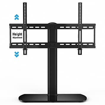 Fitueyes Universal TV Stand/ Base Tabletop TV Stand With Wall Mount For 32  To 65