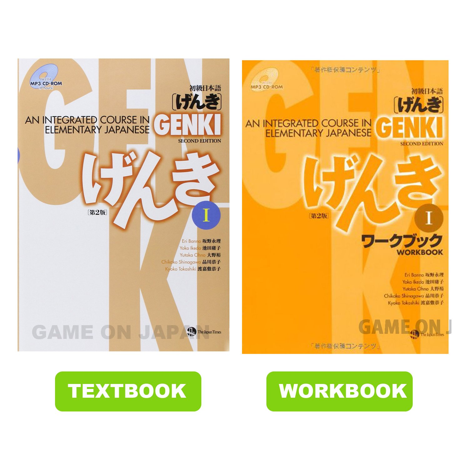 Genki 1 Textbook Workbook Answer Key Learn Japanese Elementary new Edition