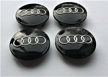 Set de 4 tapas para buje de la rueda de 68 mm, para llantas de aleación, color negro, 8D0601170: Amazon.es: Coche y moto