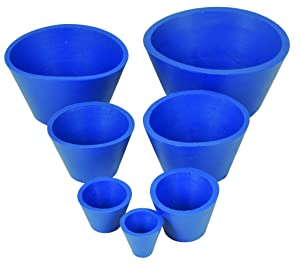 Filter Adapter Cones, Rubber - Set of 7, Multiple Sizes- for Buchner Funnels - Set of 7 Cones - Eisco Labs