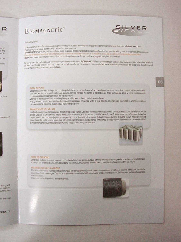 Desconocido CUBRECOLCHON IMANTERAPIA SILVER BIOMAGNETIC FABRICADO ITALIA 190x90 CM: Amazon.es: Hogar