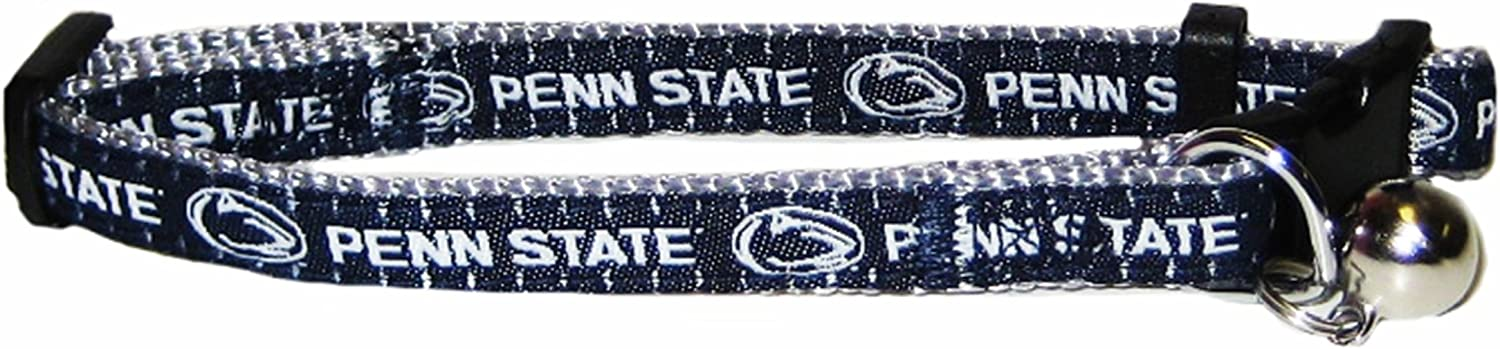 Pets First Collegiate Pet Accessories Penn State Nittany Lions One Size Cat Collar