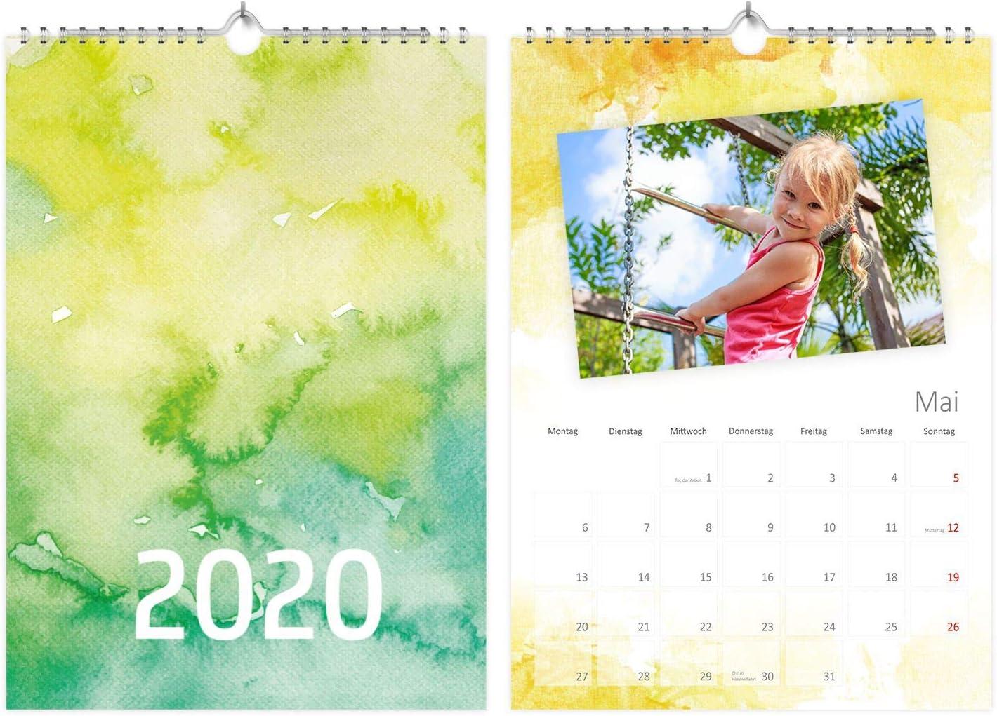 immerw/ährender Kalender Kreativkalender- von Sophies Kartenwelt Bastelkalender zum Selbstgestalten im A4 FormatWasserfarben I Fotokalender ohne Jahr
