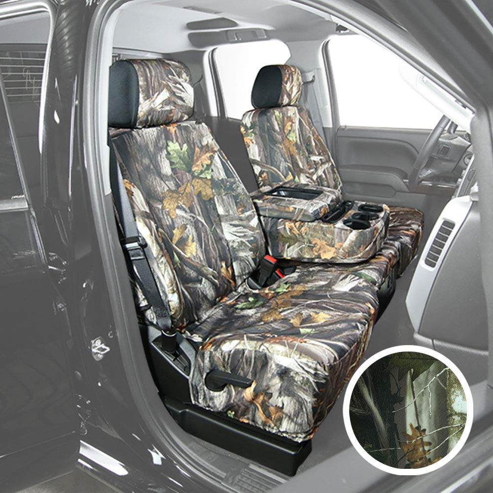 Saddleman S 289930-30 Camouflage Custom Made Front Low Back Bucket with Airbag Seat Covers