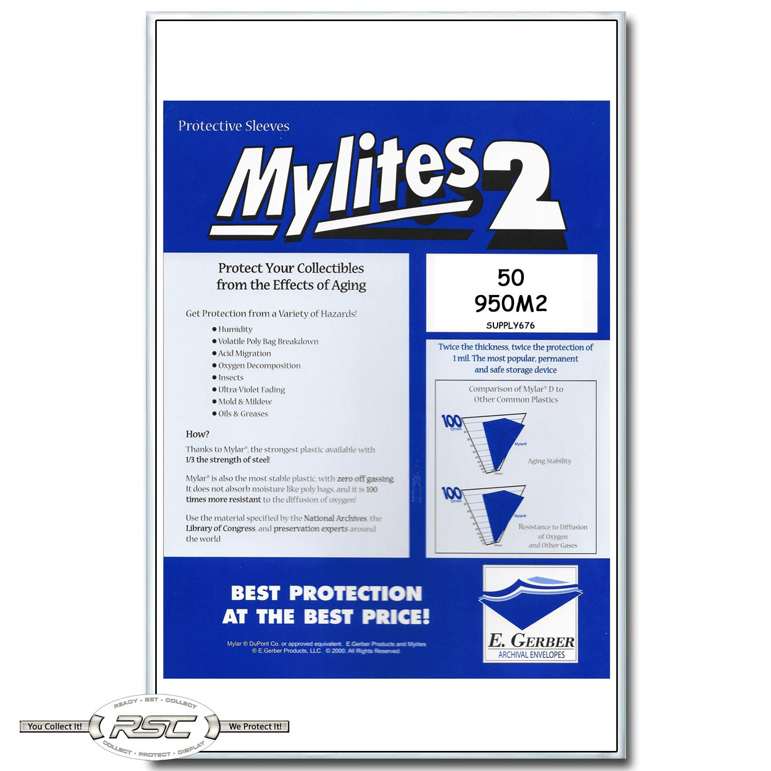 Mylites 2 Mylar Sleeves for Sheet Music & Large Magazines 9-1/2