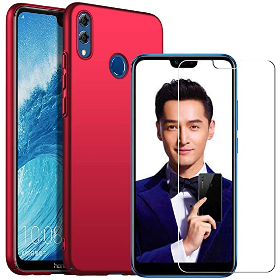 MYLB-US Compatible with Huawei Honor 8X Screen Protector with Honor 8X  case, [2 in 1] [Anti-Drop] Ultra-Thin Protective Cover Mobile Phone case  Back