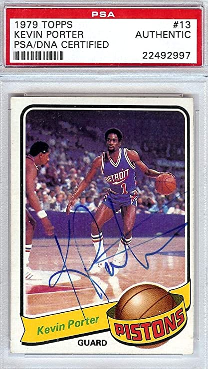 ef535e688 Kevin Porter Autographed 1979 Topps Card  13 Detroit Pistons  22492997 -  PSA DNA