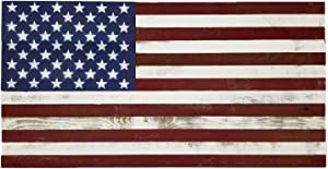"Rustic Wood American Flag 18"" x 36"" Handmade in the USA"