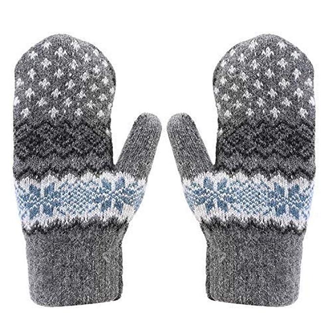 Touchscreen Handschuhe im Norwegermuster Kinder Damen one size Männer Gloves