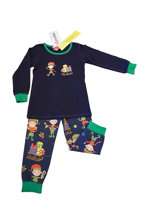 Dana Kids Boys Christmas Holiday Elf Gifts Pajamas Set 2T-12 Years