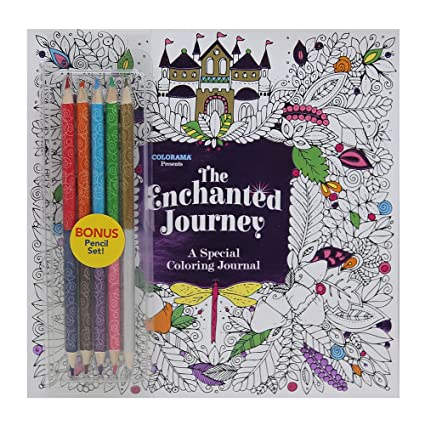 Colorama The Enchanted Journey A Special Coloring Journal Write And Color By