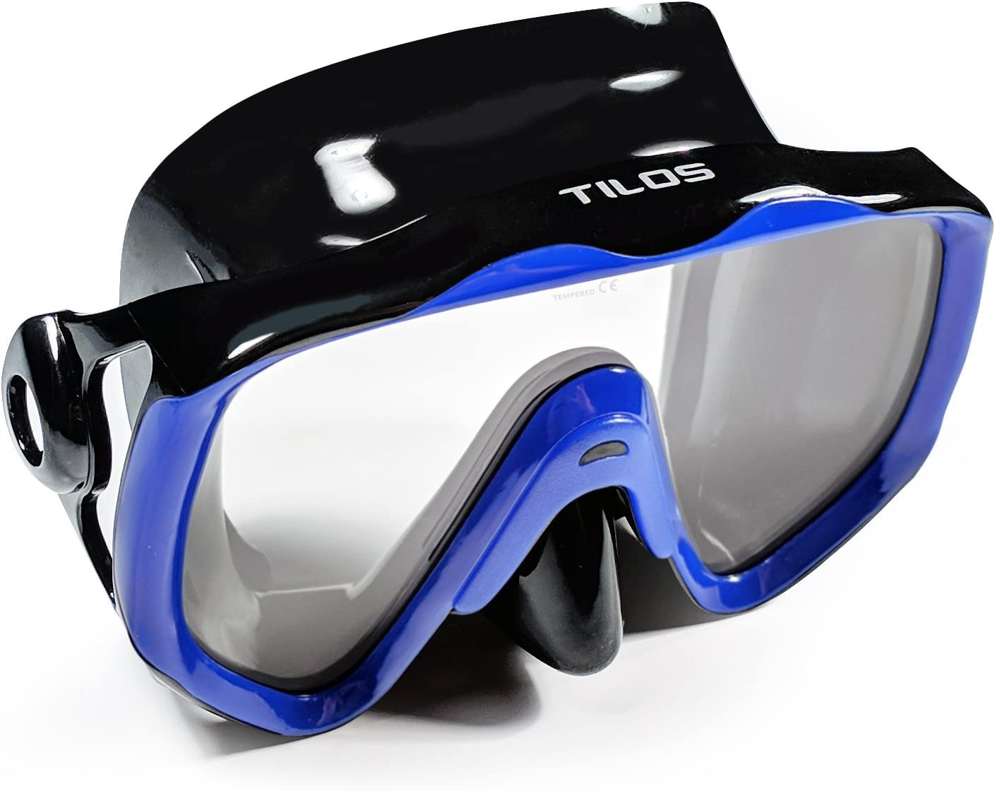 Tilos Titanica Single Lens Mask for Scuba and Snorkeling Black Silicone, Adult