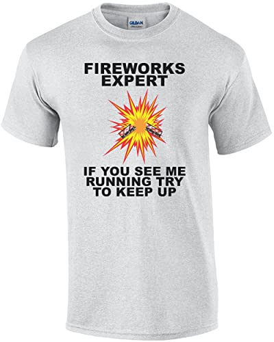 d73eb2f02 Image Unavailable. Image not available for. Color: Fireworks Expert If You  See Me Running Try To Keep Up T shirt 4th Of July