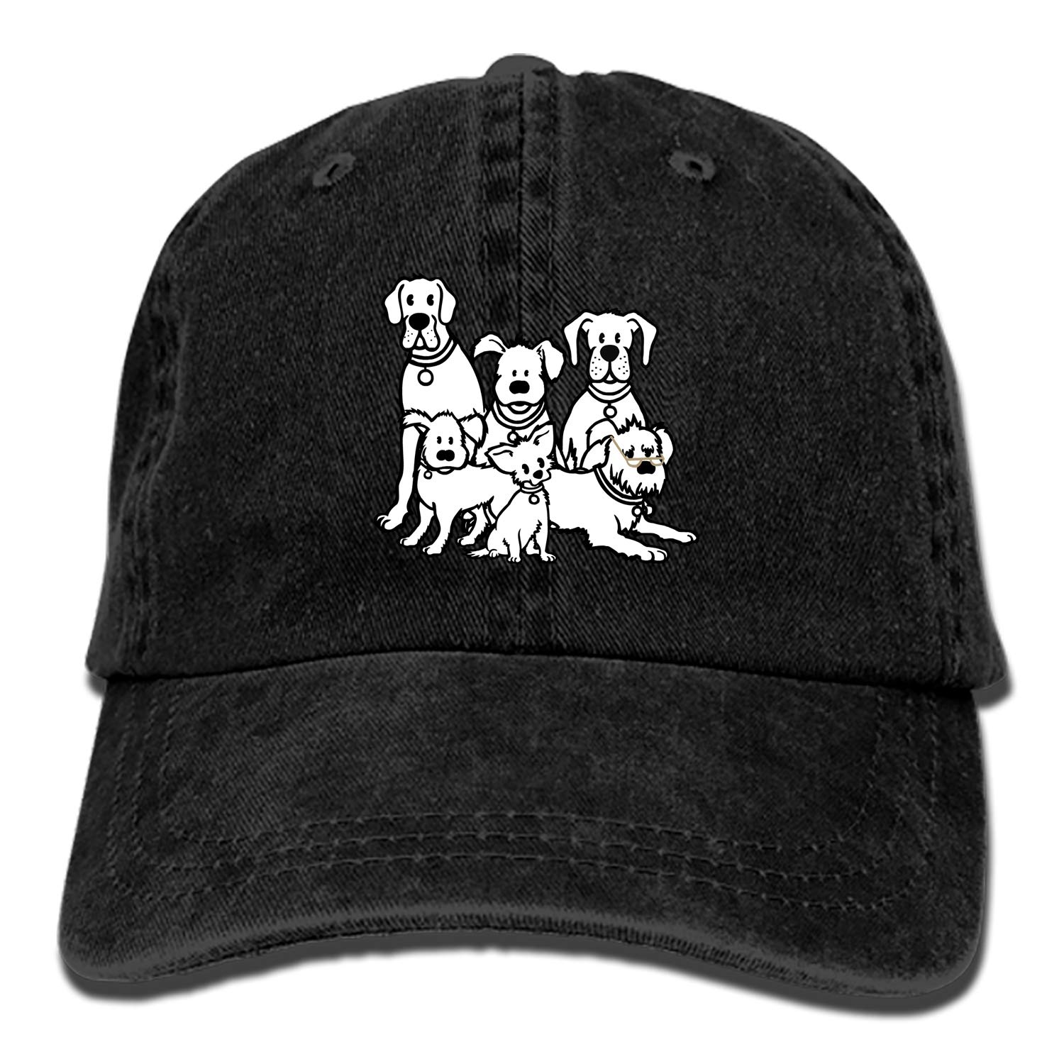 Doggie Style Pets Classic Washed Cotton Baseball Cap Hip Hop Adjustable Dad Hat