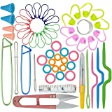 56 in One Basic Sewing Knitting & Crochet Tools Accessories, Marrywindix Sewing Kit Supplies with Measuring Tape, Snipper, Stitch Holders, Saftey Pin.