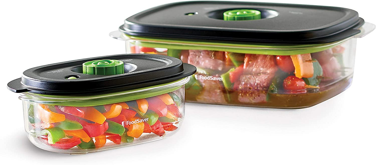 FOODSAVER 2116382 Preserve & Marinate Vacuum Containers, 3, 10 Cups, Clear