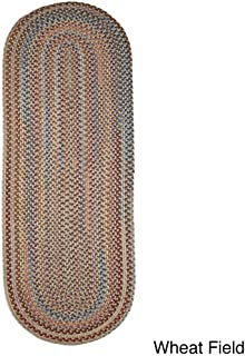 product image for Rhody Rug Augusta Braided Wool Oval Runner (2' x 6') Wheat
