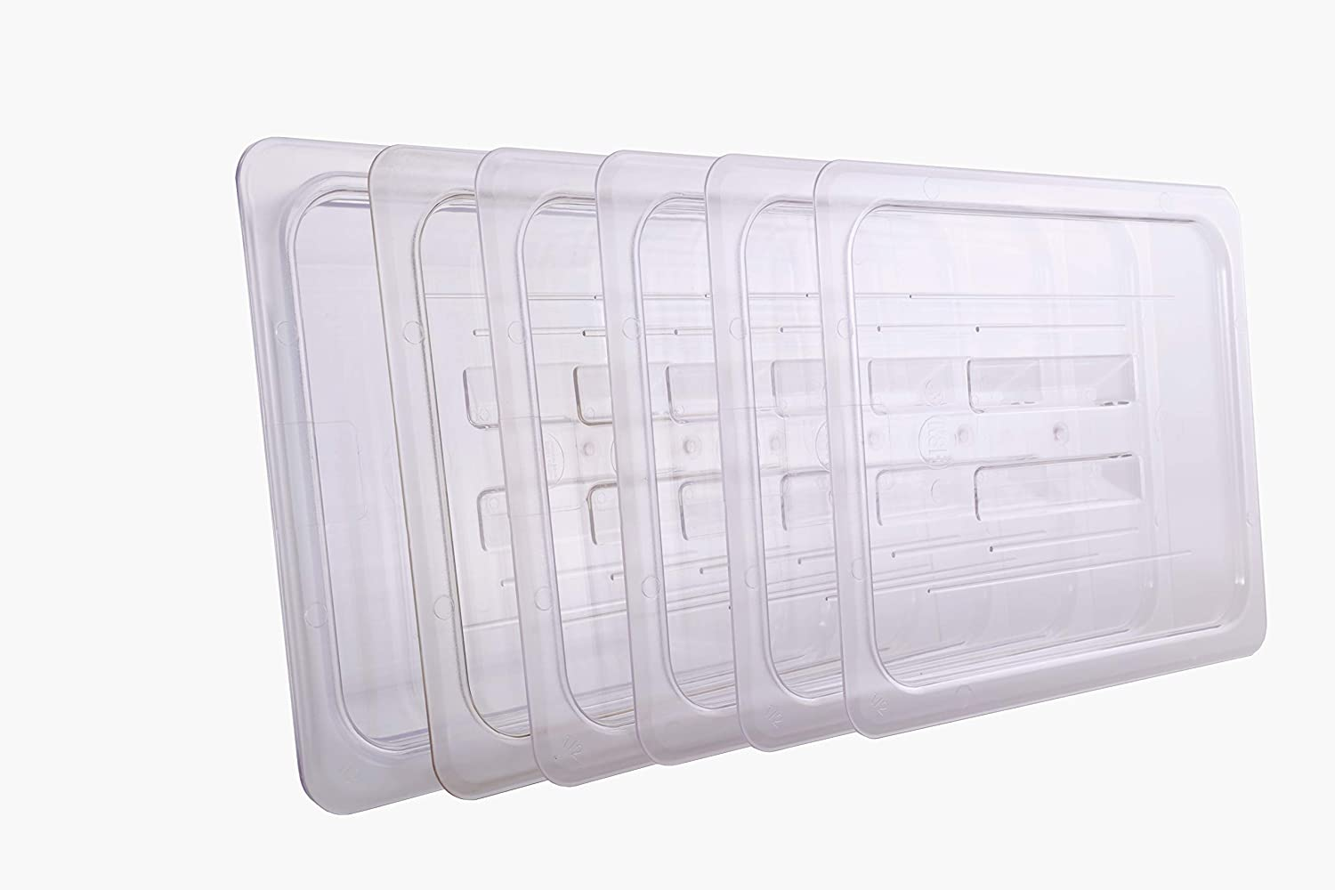 CMI 1/2 Size Polycarbonate Food Pans Lid&Cover,Clear - Pack of 6
