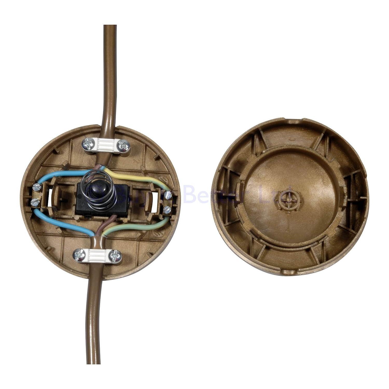 In-line presiona el interruptor de pie para suelos l/ámpara para 2 /ó 3 n/úcleo lesachats m/ás grandes de oro 65 mm de di/ámetro