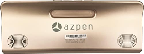 Azpen A770 Boombox with Tablet with Dual 5 Watts Bluetooth Speakers HD Display 16GB Storage and 8 Hour Battery GOL Renewed
