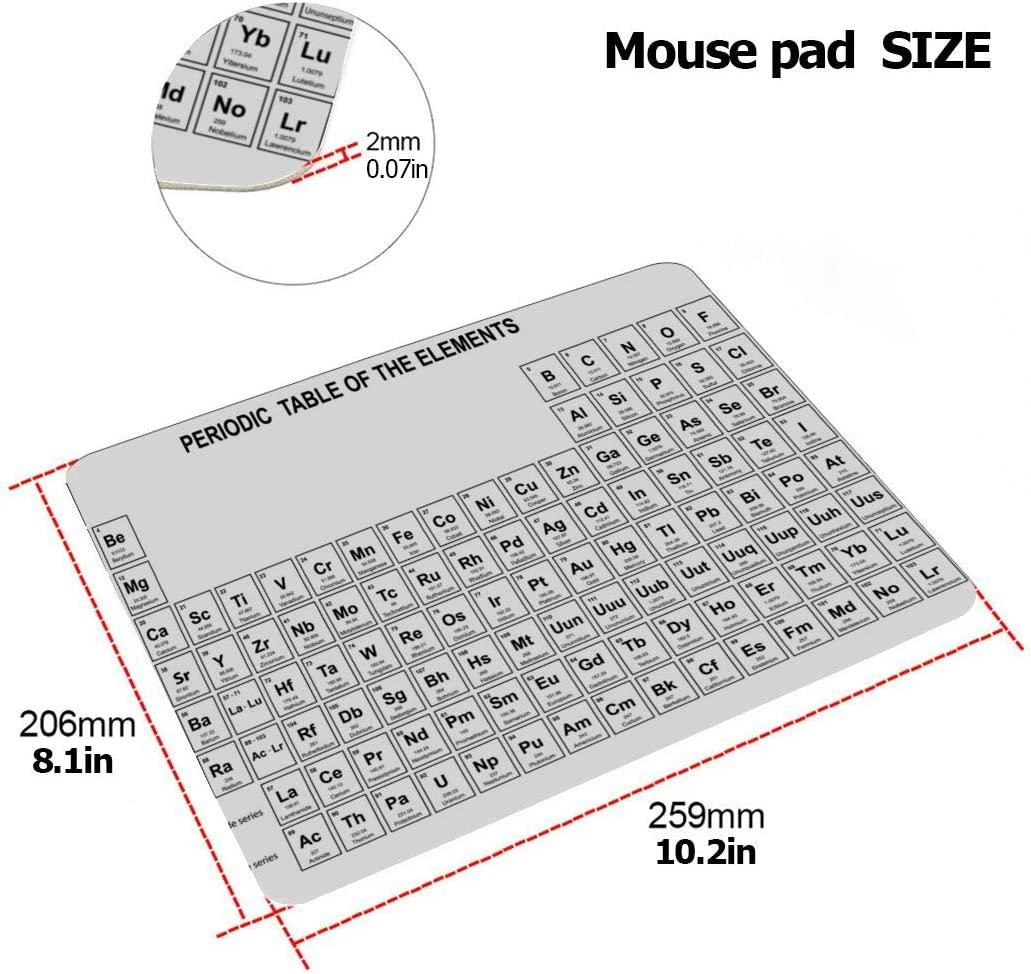 13inch MacBook Air Case Table of The Chemical Elements Plastic Hard Shell Compatible Mac MacBook Laptop Cover Protection Accessories for MacBook with Mouse Pad