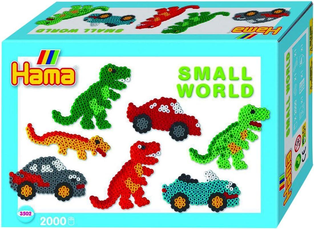 Loisirs Créatifs - Boîte Perles à Repasser - Le Monde Miniature Des Dinosaures