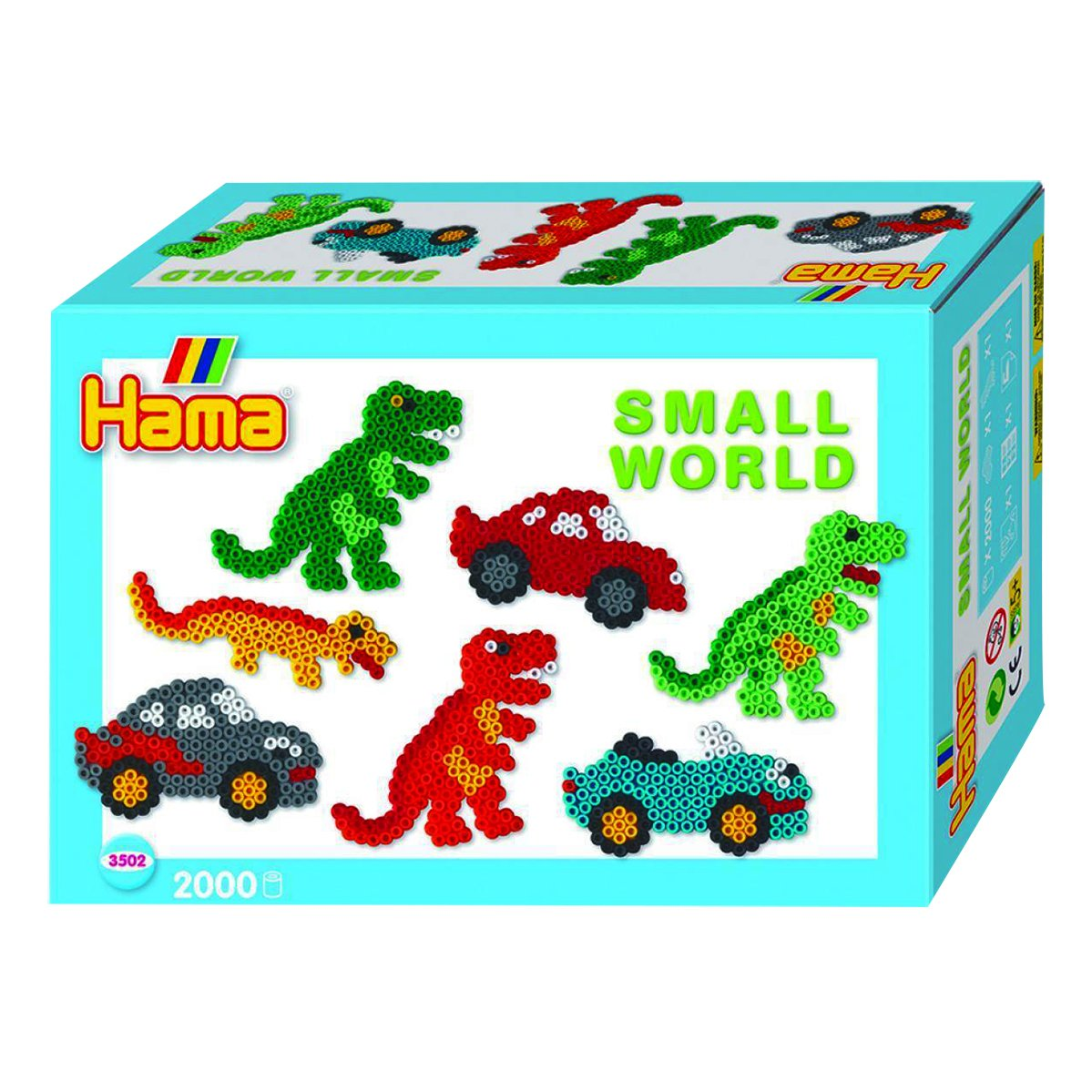 Hama Beads Small World Dinosaur and Car 10.3502