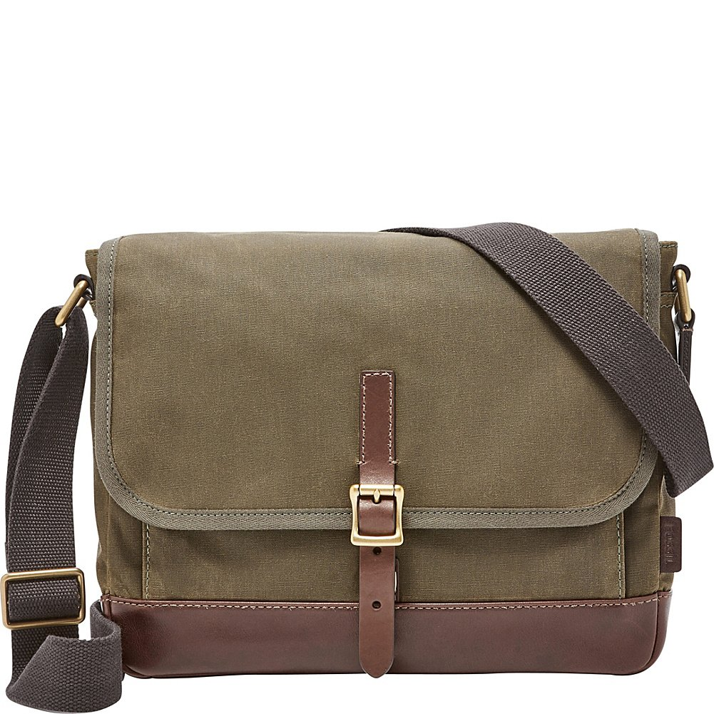 FOSSIL MENS DEFENDER EW CITYBAG GREEN