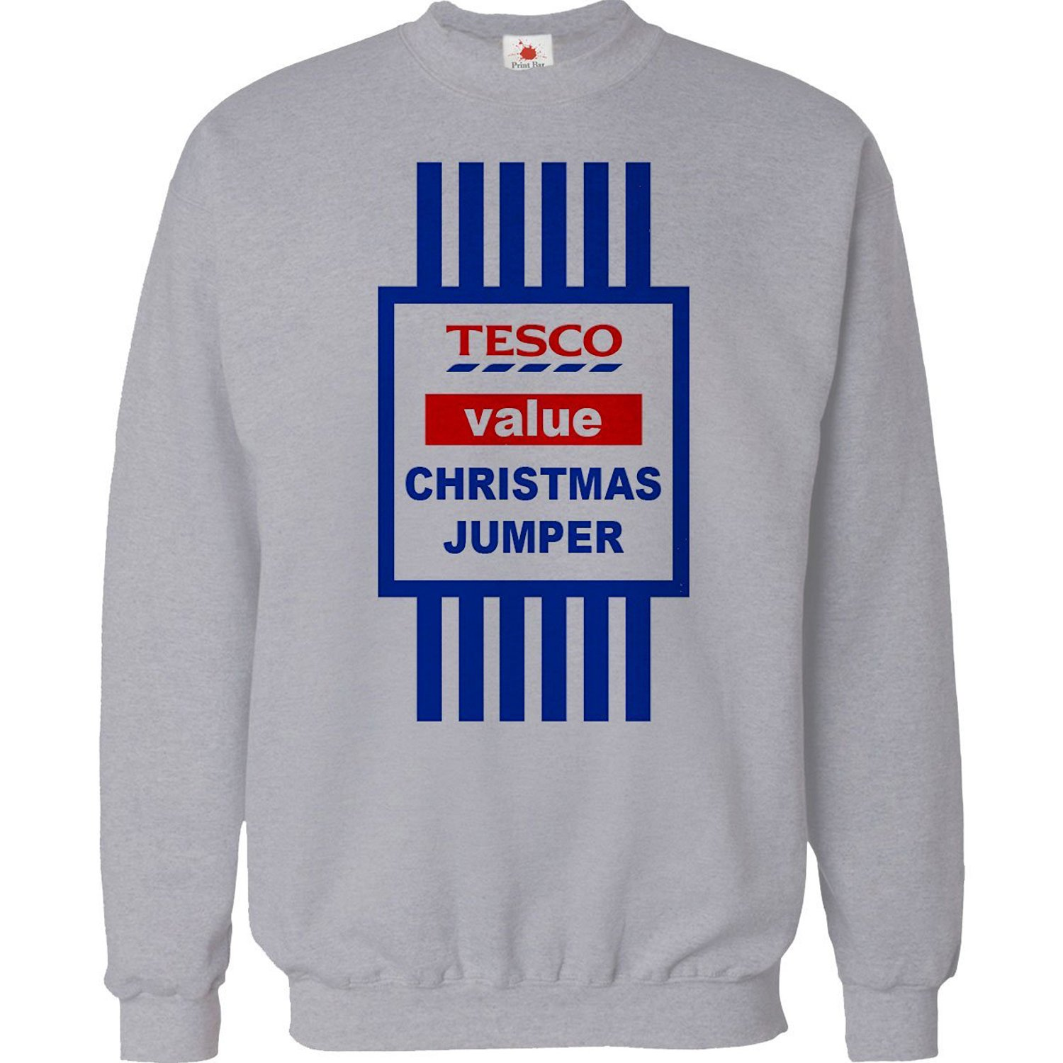 CHRISTMAS JUMPER SWEATER MENS FUNNY TOPS TESCO VALUE SWEAT SHIRT ...