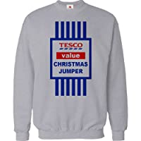 CHRISTMAS JUMPER SWEATER MENS FUNNY TOPS TESCO VALUE SWEAT SHIRT XMAS GIFT 2015 UNISEX TOP