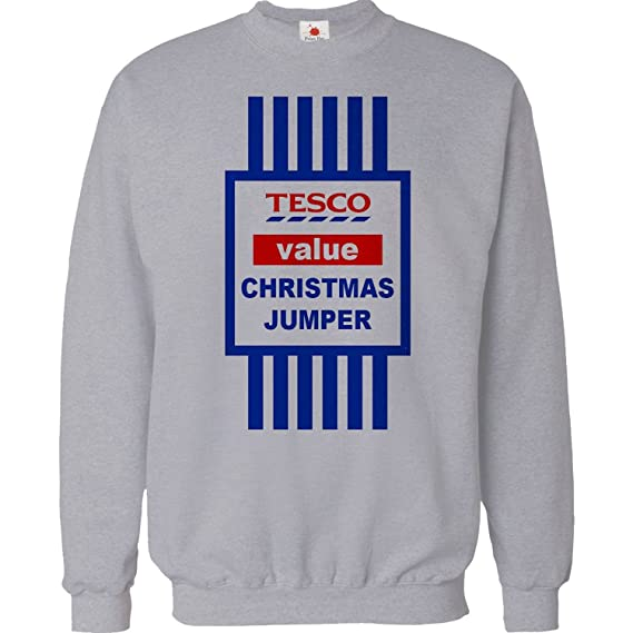 b0364c35 CHRISTMAS JUMPER SWEATER MENS FUNNY TOPS TESCO VALUE SWEAT SHIRT XMAS GIFT  2015 UNISEX TOP: Amazon.co.uk: Kitchen & Home
