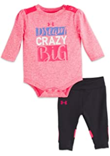 6e39cc3395cd04 Amazon.com: Under Armour Toddler Girls' Tee and Legging Set, True ...