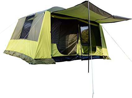Outsunny Tienda de Campaña Familiar 4-8 Personas Carpa Grande Acampada Tipo Refugio para Playa Picnic Portátil y Impermeable con Bolsa de Transporte ...