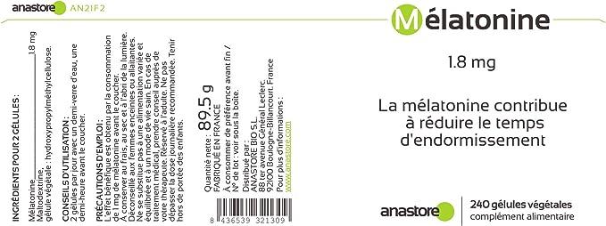 MELATONINA * 1.8 mg / 120 dosis * Sueño * Garantía de satisfacción ...