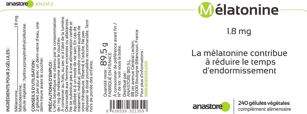 MELATONINA * 1.8 mg / 60 dosis * Sueño * Garantía de satisfacción ...