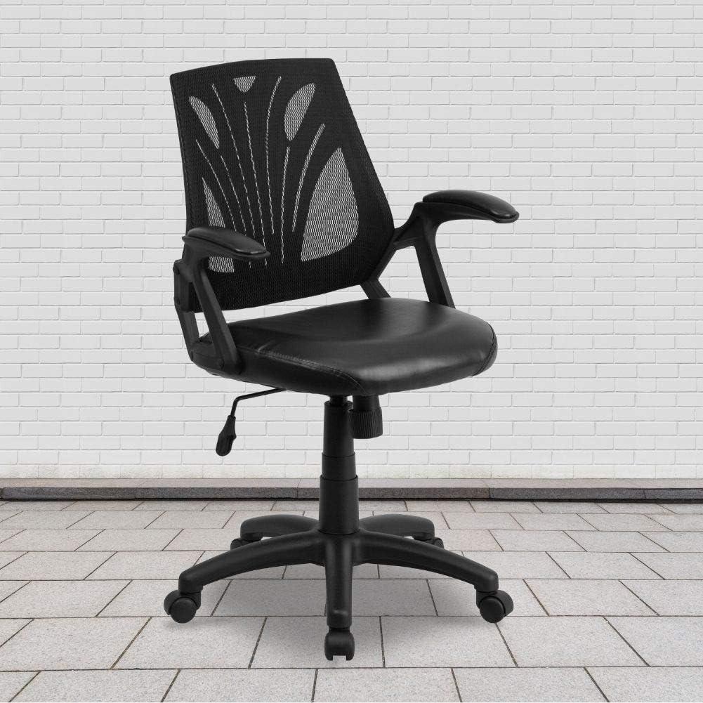 Amazon.com: Flash Furniture Mid-Back Designer Black Mesh Swivel