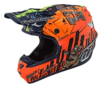Troy Lee Designs Casco Mx 2019 Se4 Comp Baja Anaranjado (S, Anaranjado)