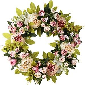 Peony Wreath for Wedding, Wall, Home Decor Front Door Outdoor Indoor