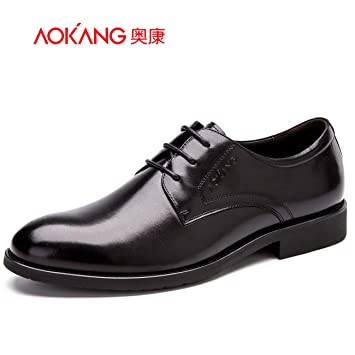 Men'S Shoes Men'S Business Suits Shoes Male Pig Comfort Sockliner Cushioning Low-Cut Shoe 38 Brown
