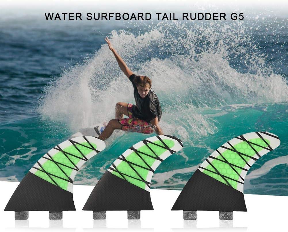 FRP FCS Karbonfaser einzelner Kopf Surfen Paddle Boarding Wakects Surfbrett-Flosse f/ür Surfbretter zum Schwimmen