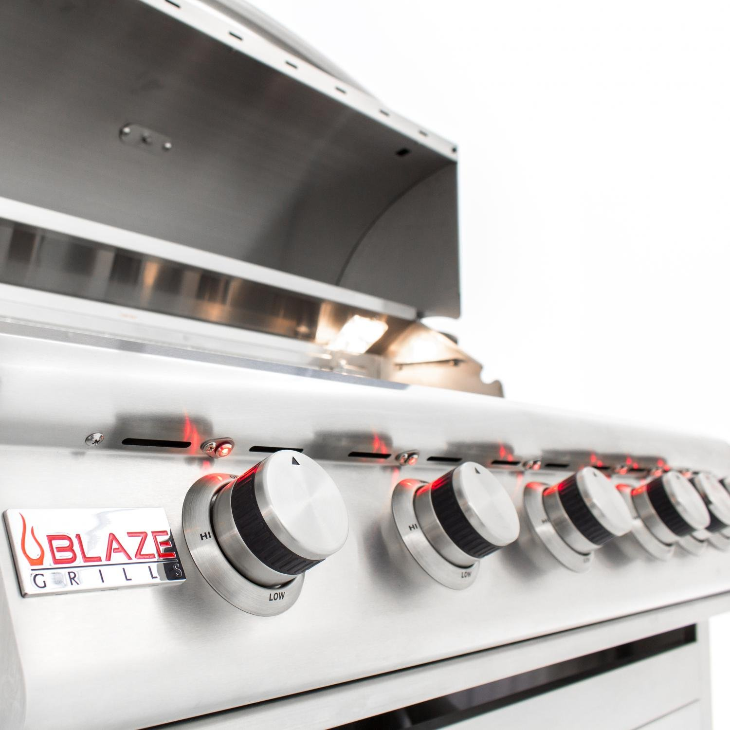 Blaze LTE 40-Inch 5-Burner Built-In Natural Gas Grill With Rear Infrared Burner & Grill Lights - BLZ-5LTE-NG by Blaze