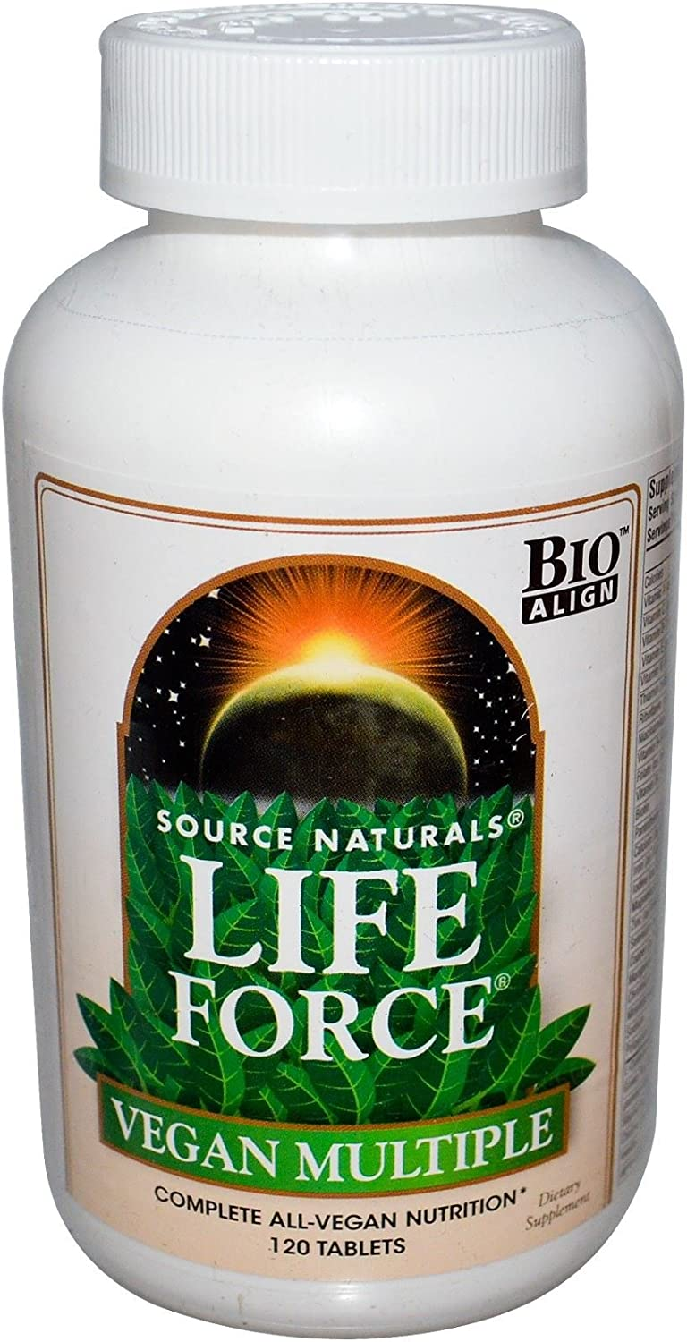 SOURCE NATURALS Life Force Vegan Multiple Tablet, 120 Count