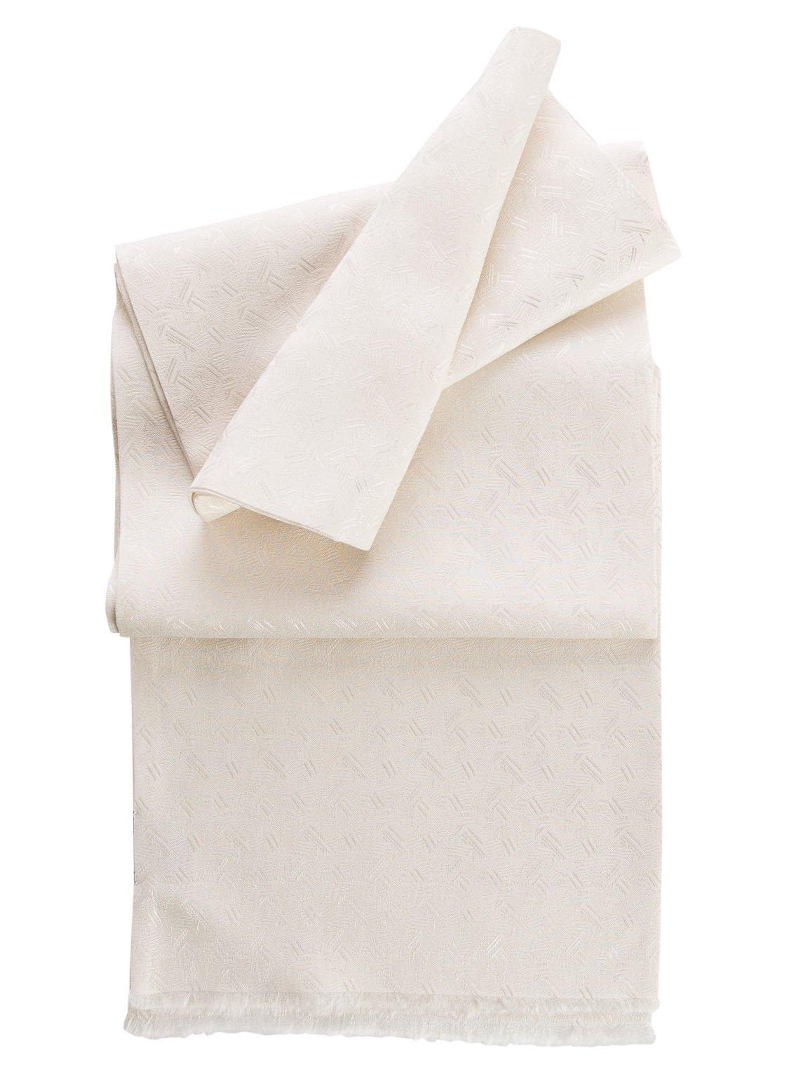 Elizabetta Men's Pure Silk Aviator Opera Scarf, Handmade in Italy, Skinny Soft White